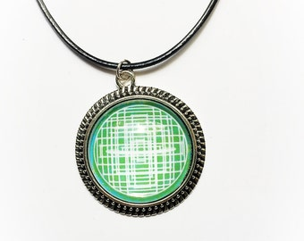 Green Mandala Necklace