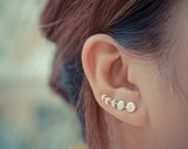 Moon Phases Sterling Silver Earring Pins/Cuffs
