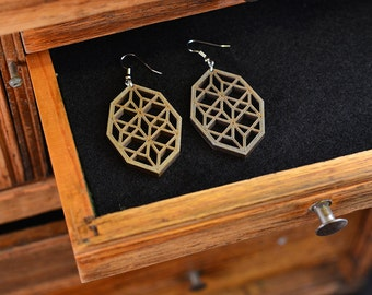 Jewel Screen Earrings - Gray