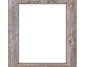 "16x20  Barnwood Reclaimed Wood 3.5"" Extra Wide Wall Frame (No Plexiglass or Back)"