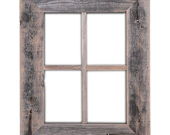 Rustic Barn Wood Window Frame(not for pictures)