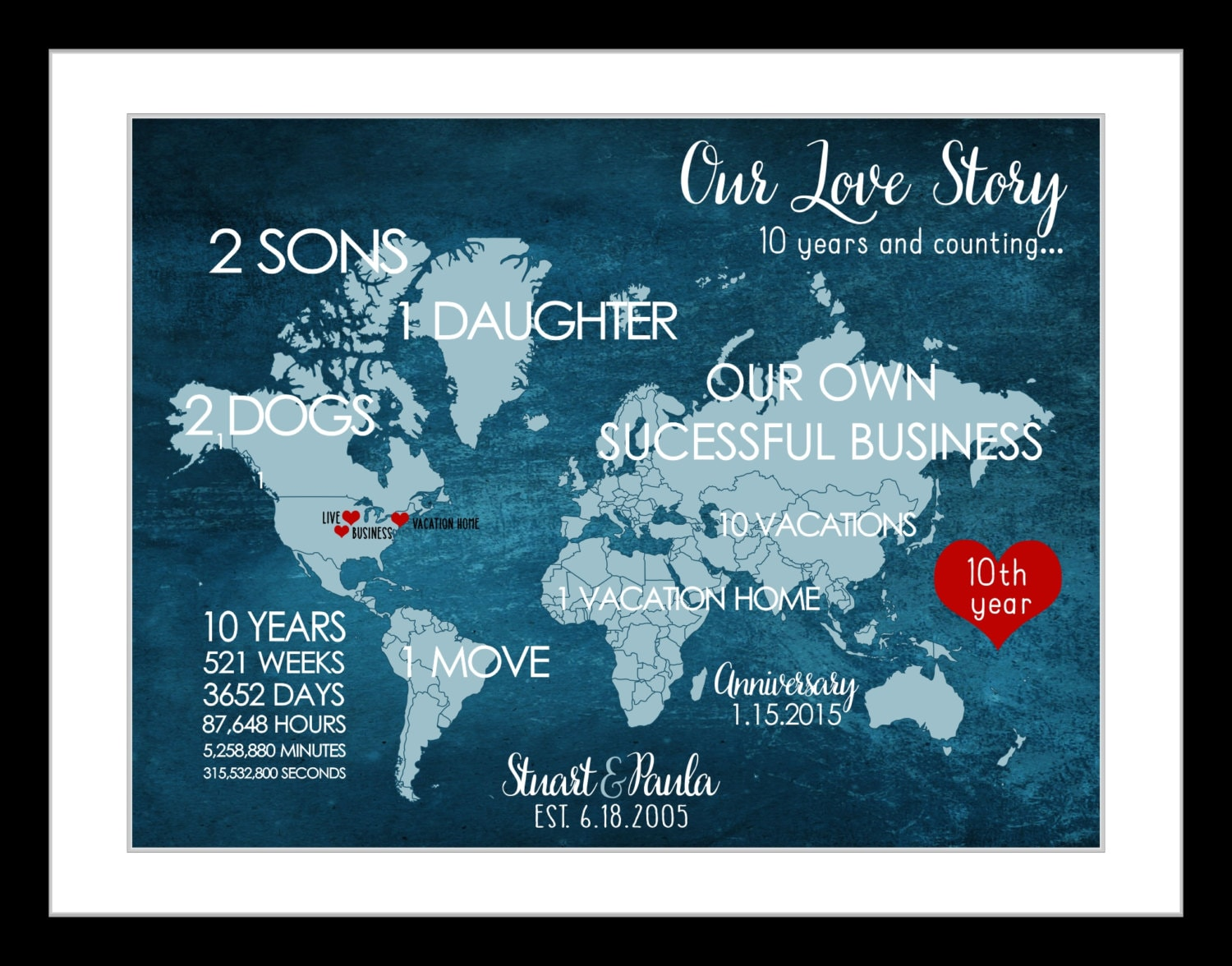 Wedding Gifts For 10 Year Anniversary : 10 Year Anniversary Gift For Men Him 10th Wedding Anniversary