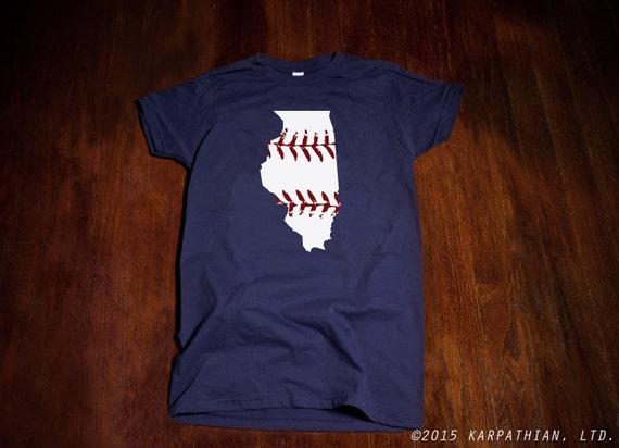 Illinois baseball Ladies junior fit t-shirt