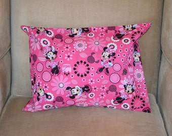 Travel Pillow Case / Child Pillow Case Walt Disney MINNIE MOUSE / MICKEY