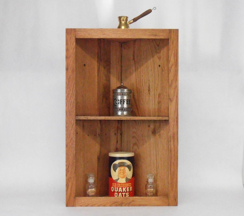 Wooden Corner Shelves ~ Rustic pallet wood corner shelf cabinet
