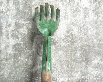 Vintage Green Garden Tool
