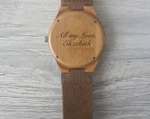 Wooden watch, engraved wood watch, personalized wooden watch, christmas gift, groomsmen gift, mens wooden watch