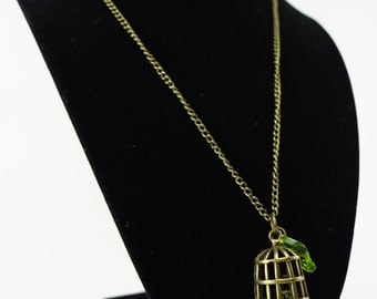 Brass Birdcage Necklace