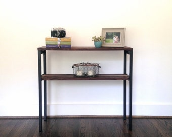 """The """"Gannon"""" Console Table - Reclaimed Wood & Steel Console Table - Reclaimed Wood Console Table"""