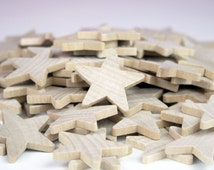 "25-100 Wood Stars, 1 1/2"" x 3/16"", Unfinished Wood Stars, Unfinished Wood Stars For DIY Projects - CSO"