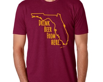 Seminoles & Craft Beer- Florida FSU Drink Beer From Here shirt