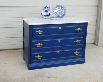 Antique Eastlake Dresser with Marble Top