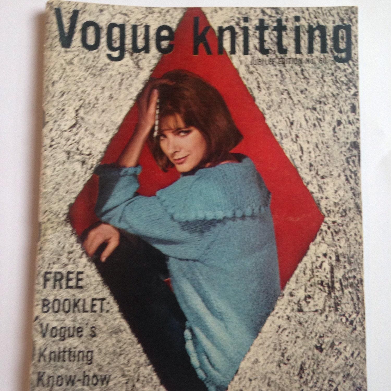 Vogue Vintage Knitting Patterns : Vintage Vogue Knitting Pattern Booklet 1960 Special