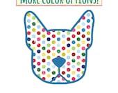 Boston Terrier in polka dots! Dog decal vinyl stickers - you choose color option - Boston breed bias - #bostonlove