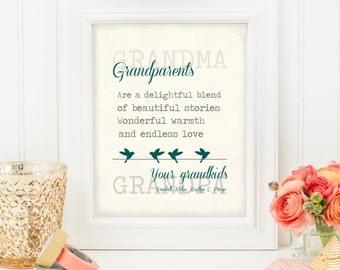 Grandparents day- Grandparent gift- Grandchildren- 8x10- 11x14- DIGITAL FILE