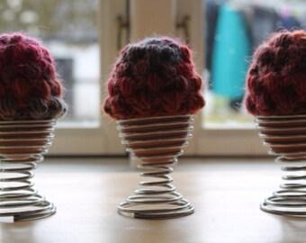 Set of 3 egg cozies, egg hats, miniature hats, crocheted hats