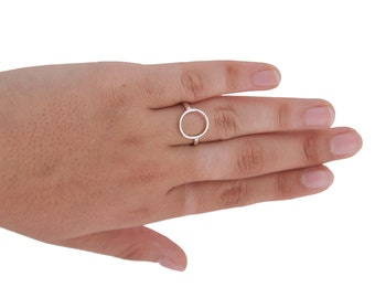 Full circle ring, karma ring, eternity ring, infinity circle ring, purity ring, life ring gift fun jewelry,handmade all sizes
