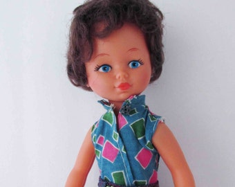 Mod Hong Kong Doll Hollow Plastic Dime Store Doll 1970s - 11.5 Inches