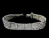 Silver Bead Tennis Bracelet ITALY the Look of 365 Diamonds SMASHING
