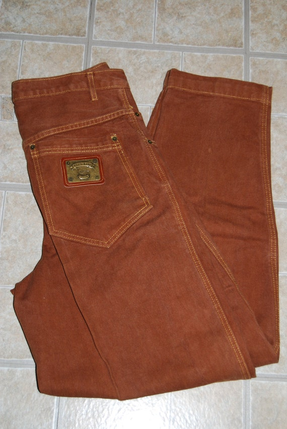 90s karl kani jeans brown denim jeans 30 pleated usa made. Black Bedroom Furniture Sets. Home Design Ideas