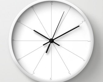 Minimalist wall clock simple clock classic wall clock black and white modern decor numbered wall clock modern wall clock simple graphic