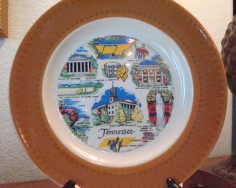 """Vintage """"Tennessee"""" Souvenir Collector's Plate - Landmarks of Tennessee - Excellent Condition!!"""