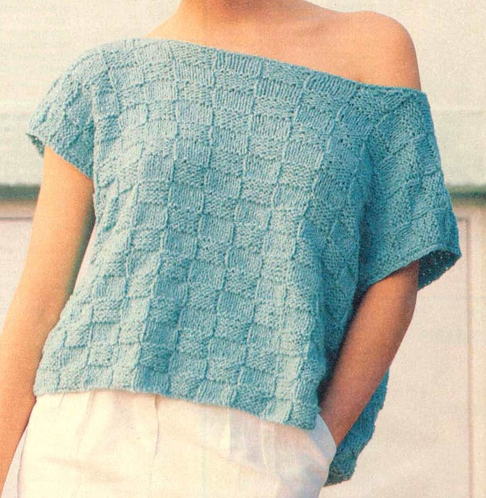 Knit Crop Top Pattern : Knitting Pattern Womens Crop Top Knitting Pattern Sleeveless