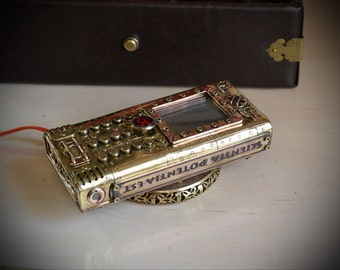 Steampunk phone - based on NOKIA 130 , Wireless charging, Dual SIM Cards, steam technology.