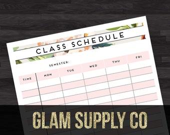 Class Schedule - Floral