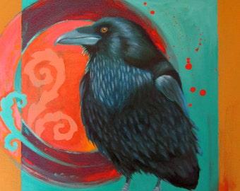 RAVENESQUE -  raven, crow, native american, indian, corvid, love