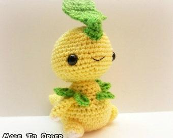 Crochet Bayleef Inspired Chibi Pokemon