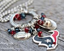 Houston Texans Necklace, Texans Jewelry