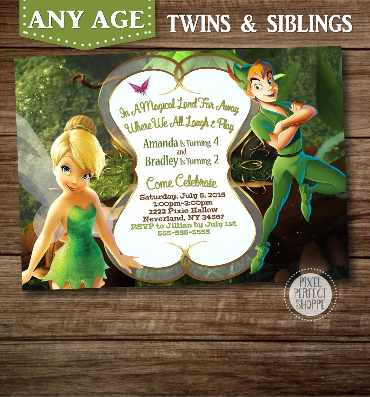 1st Birthday Invitation Background Tinkerbell - flashahead.info