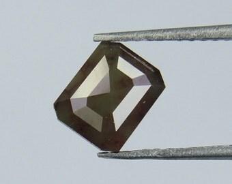 1.04 Ct Natural Loose Diamond Cut Emerald Shape Brown Grey Color L141