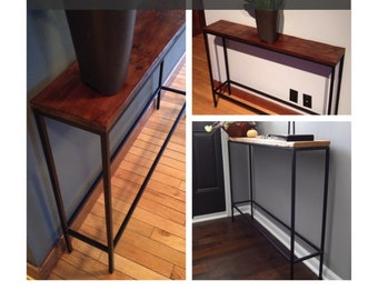 Slender Steel Console Table