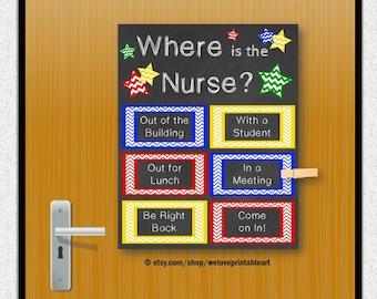 School Nurse Gift, Nursing Decor, Office Door, Nursing Gift, Office Decoration, Door Sign, Printable Art, School Nurse Poster Back to School