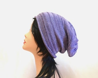 SALE slouchy beanie Knitting Hat lavender lilac Accessories Autumn, slouchy hat womens