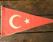 Vintage Turkey fabric pennant