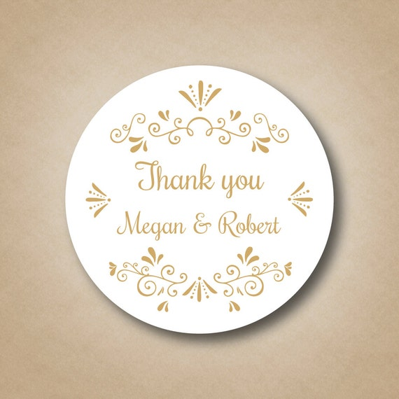 Wedding Favor Labels Gold Wedding Favors Gold Stickers Custom Wedding ...