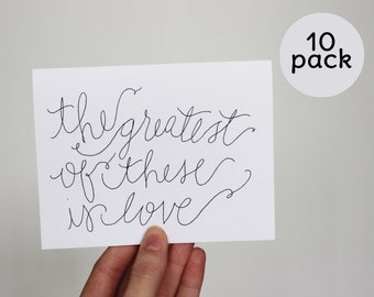10 pk Love note cards