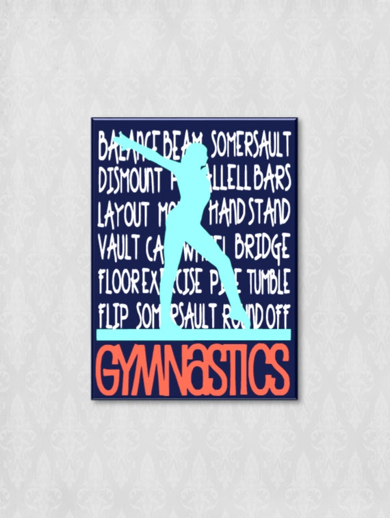 Gymnastics Balance Beam Canvas Wall Art