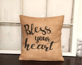 Bless Your Heart Pillow