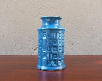 Petrol blue Vintage Vase by BAY - 1960s - West German Pottery  - Fat Lava era - Mid Century Modern - 60 14