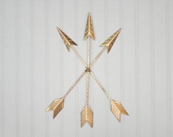 Gold Arrow Wall Hanging/Wall Decor/Bohemian Decor/Arrow/Tribal/Boho/Arrow Art/Native American/Trendy/Western/Girls Room/Gallery