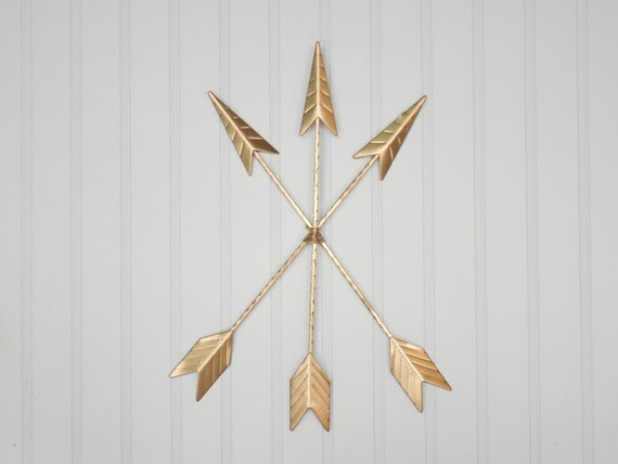 Gold R Wall Decor : Gold arrow wall hanging decor bohemian by theshabbystore