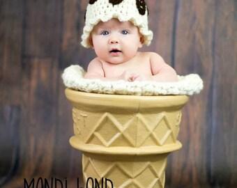 Ice Cream Sundae baby Hat Summer Hat Summer beanie Ice Cream Baby Hat Sundae Baby Hat
