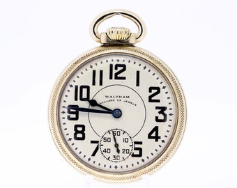 10K Gold Filled Waltham Pocket Watch 23 Jewel Vanguard