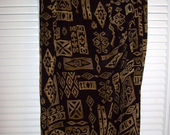 Vintage Jones New York Silk Sarong Skirt ! Outstanding Astec Design Size 8