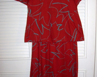 Vintage Joanie Char Two Pieced Maxi FABULOUS 80's dress, Flared long skirt, 10 - 12