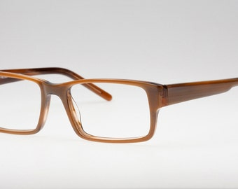 Brown rectangular eyeglasses frame, Reading glasses, Men's eyewear, Glasses for reading, Magnifying glasses, Optical frames, Eyejets eyewear